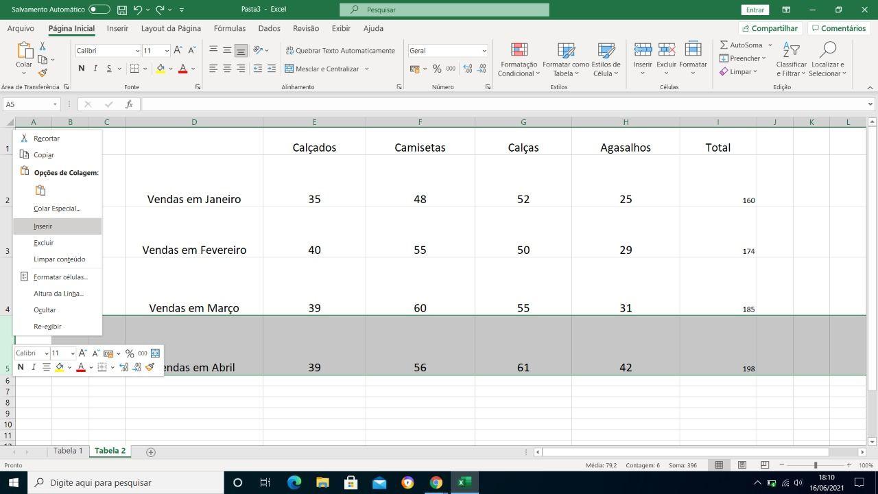 como fazer planilha no Excel
