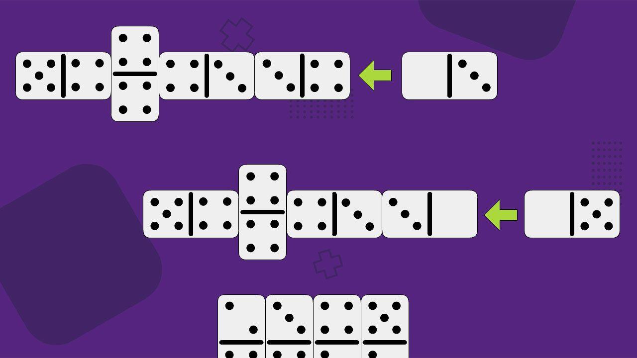 A peça com número zero pode ser usada como um número comum ou como coringa para deixar o jogo mais emocionante (Reprodução: Redação Zoom)