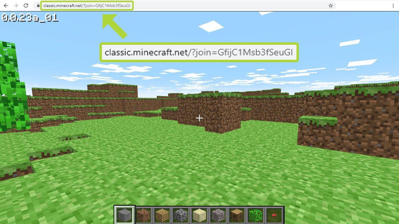 Mesmo nessa versão mais básica, há como jogar Minecraft Classic Edition com amigos (Reprodução: Redação Zoom)