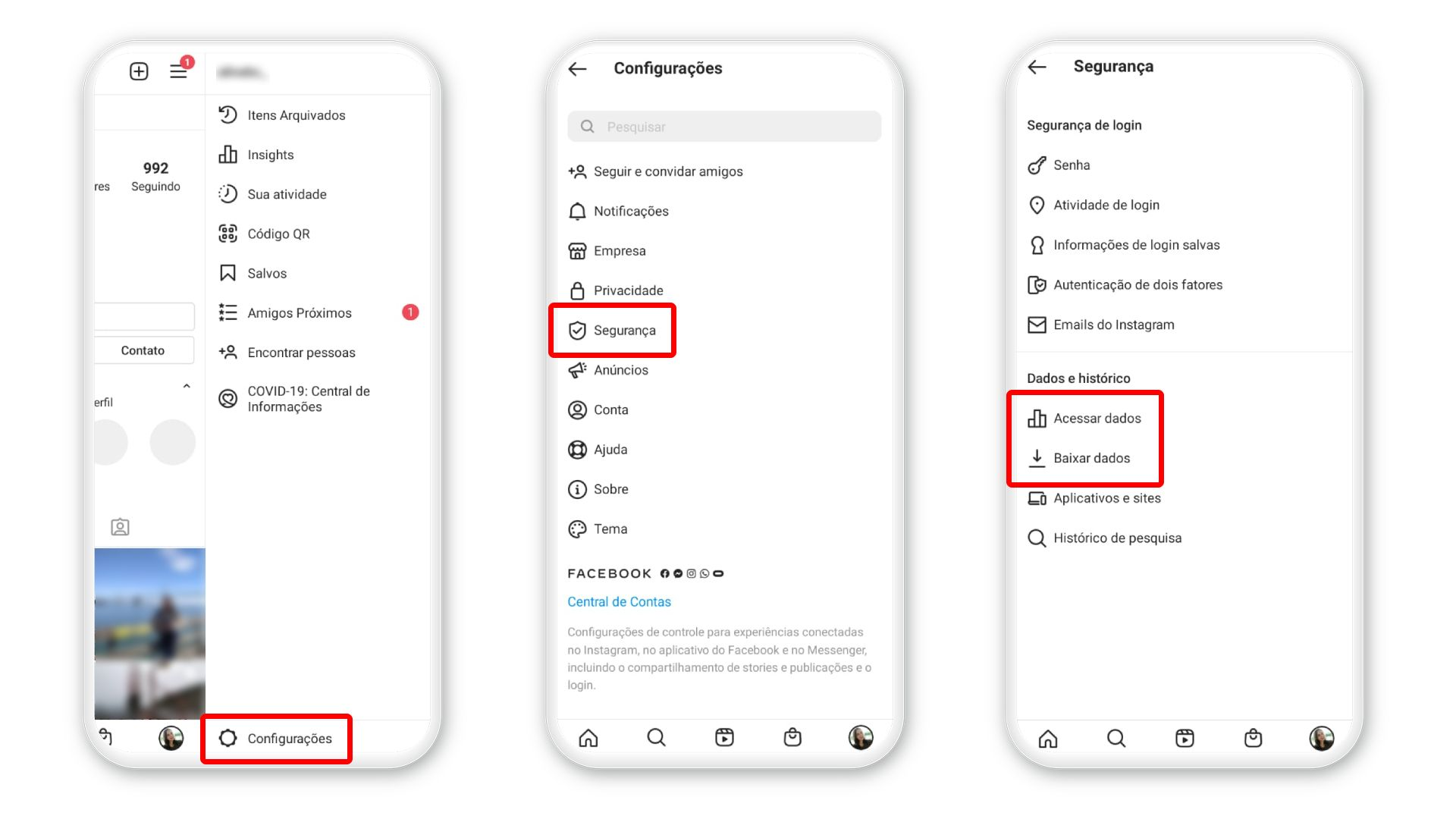 Como excluir conta do Instagram pelo celular - DeUmZoom