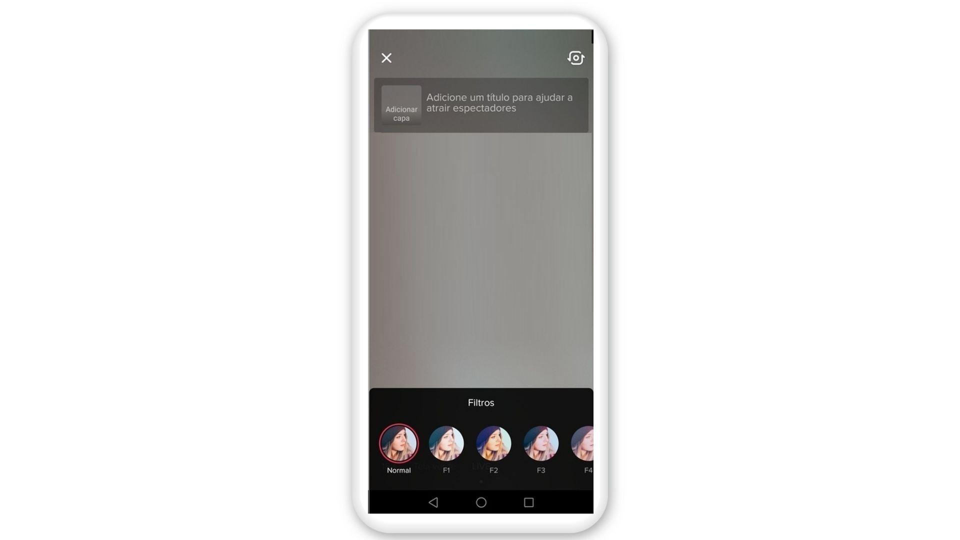 Recurso de Live no TikTok permite filtros (Foto: Reprodução/Zoom)