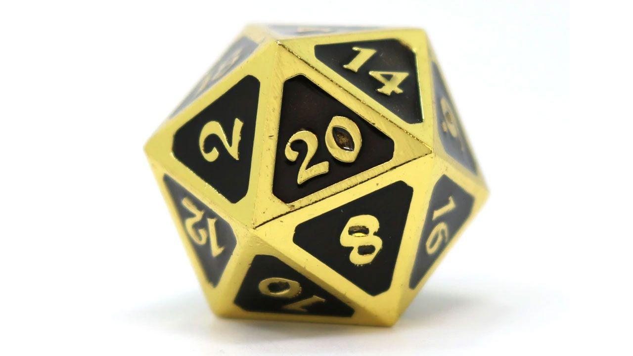 O dado de vinte faces, ou D20, é um dos mais comuns em jogos de RPG como Dungeons & Dragons (Reprodução: DieHardDice)