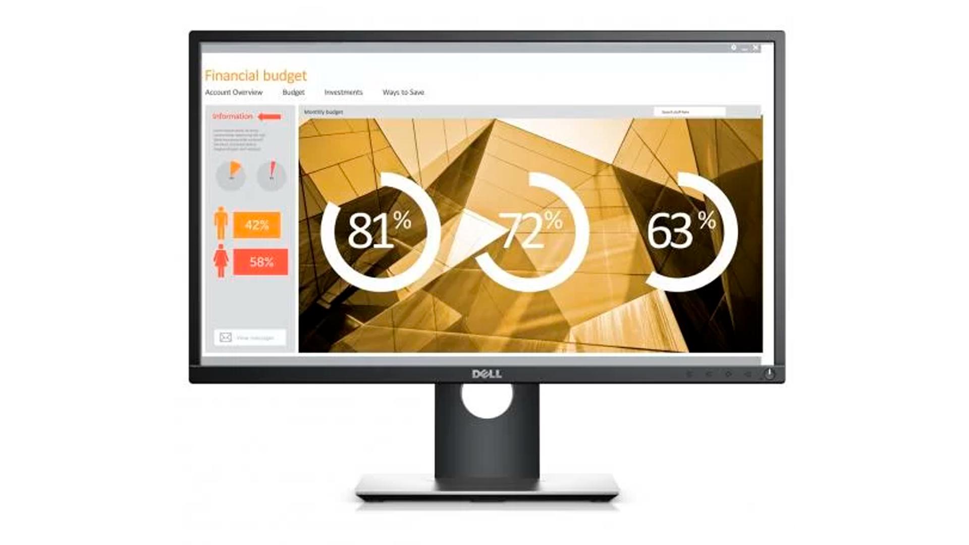 Indicado para o trabalho, o monitor IPS 24 polegadas Dell Full HD P2419H é uma boa opção (Foto: Divulgação/Dell)