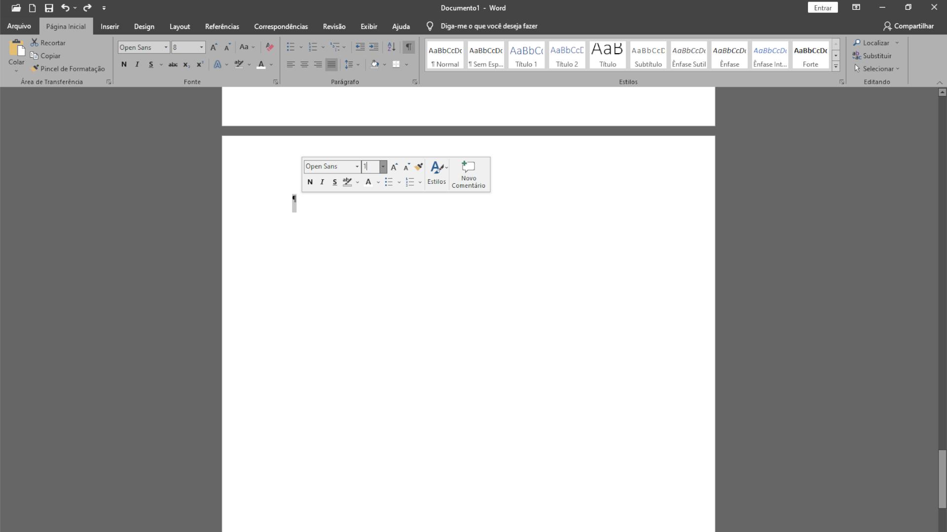 A marcação de parágrafo pode ser a culpada pela página em branco no final do documento (Foto: Reprodução/Zoom)