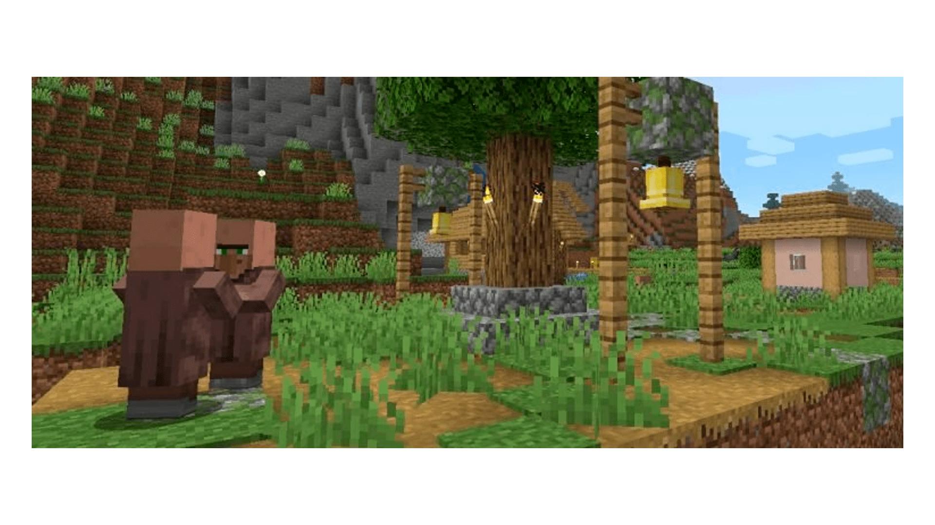A Pedra Lisa também pode ser encontrada em Aldeias no Minecraft (Foto/Hugo Iwaasa)