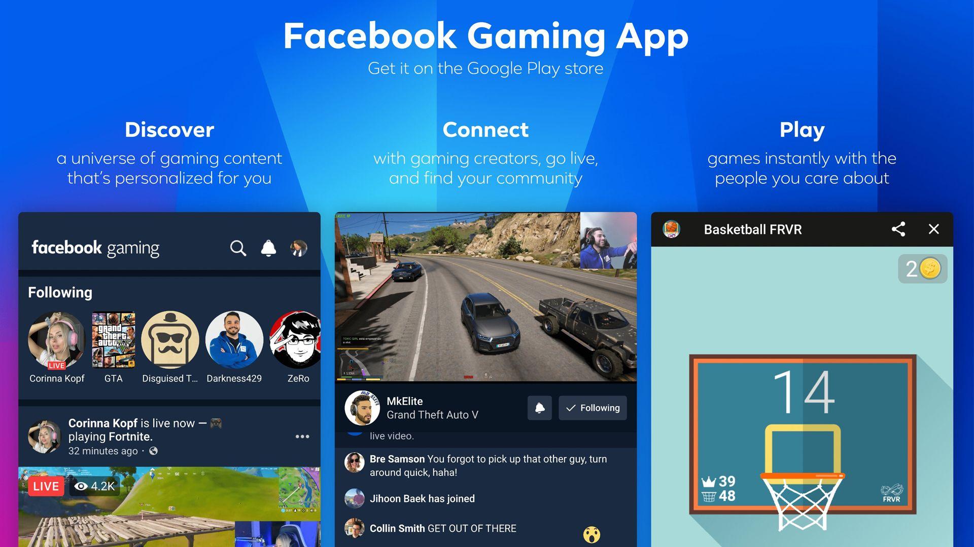 O app é disponibilizado para Android e IOS. (Fonte: Twitter/Facebook Gaming)