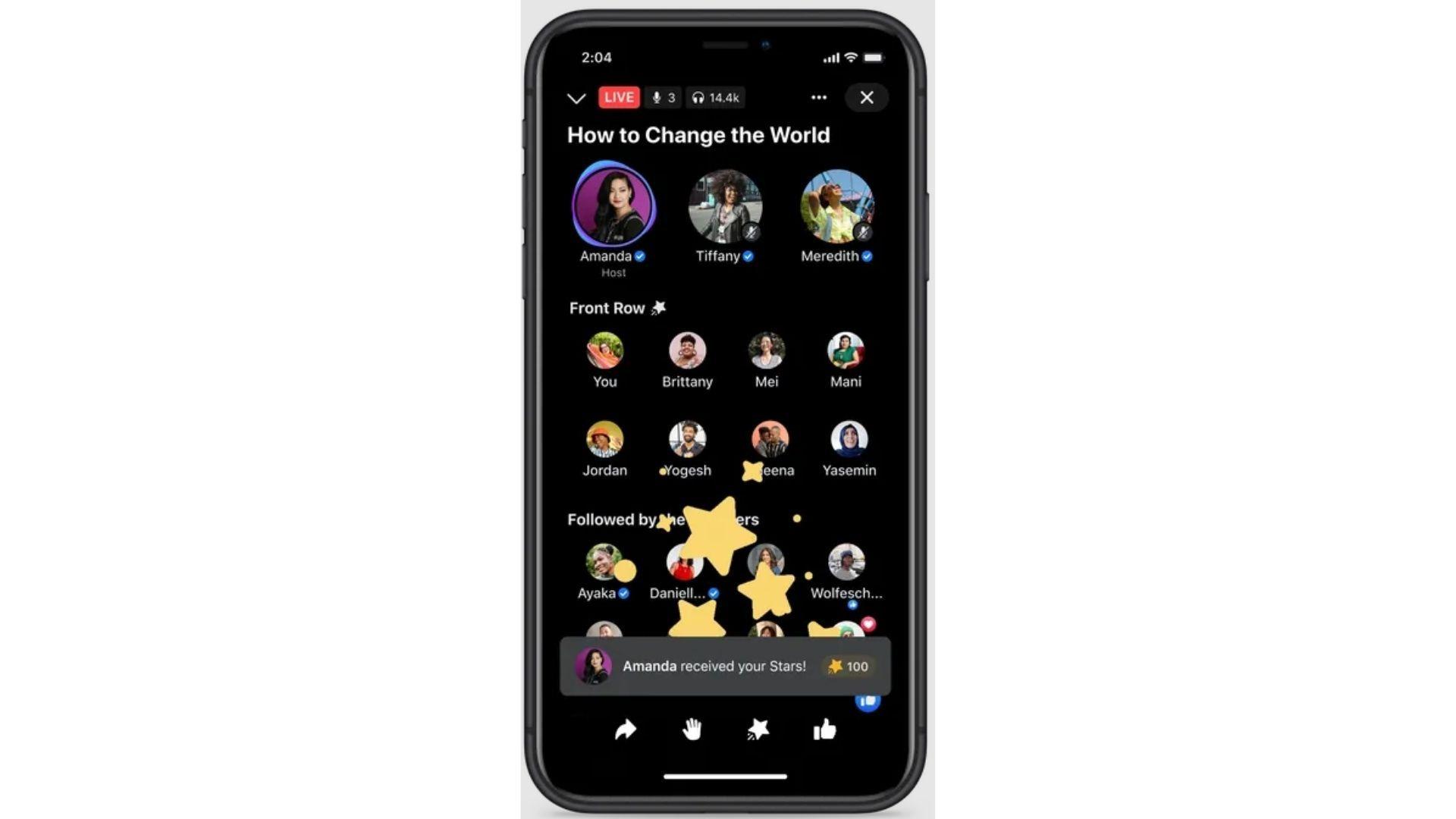 Tela do Facebook Live Audio Rooms, disponível nos Estados Unidos (Foto: Reprodução/Facebook)