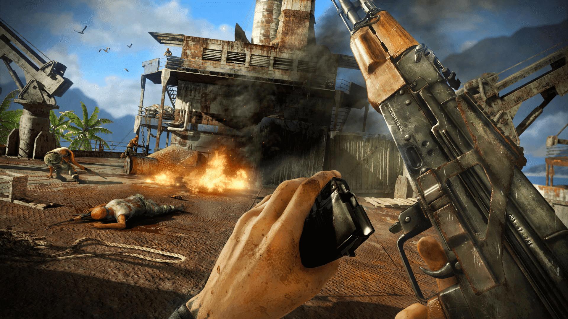 Far Cry 3 é um jogo com tiro em primeira pessoa, mundo aberto e muita ação (Foto: Divulgação/Ubisoft)