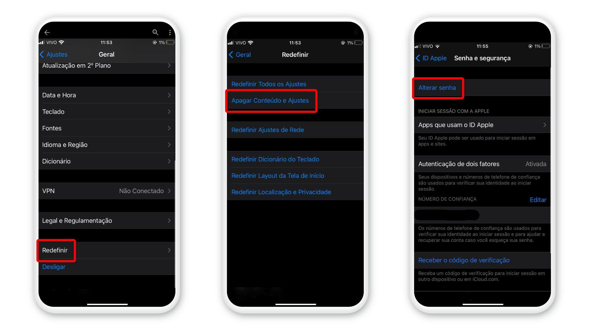 Como formatar o celular da Apple: atualize a sua ID Apple para formatar o celular (Foto: Arte/Zoom)