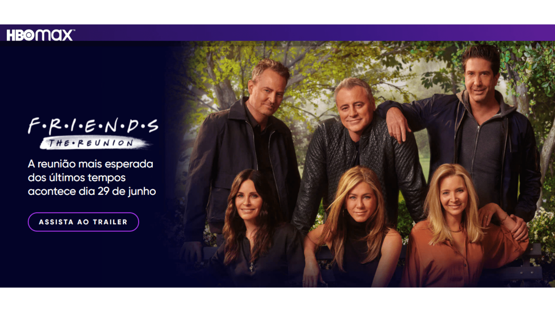 Friends Reunion: onde assistir? O especial chega ao Brasil em 29 de junho no HBO Max. (Imagem: Captura de tela/HBO Max)
