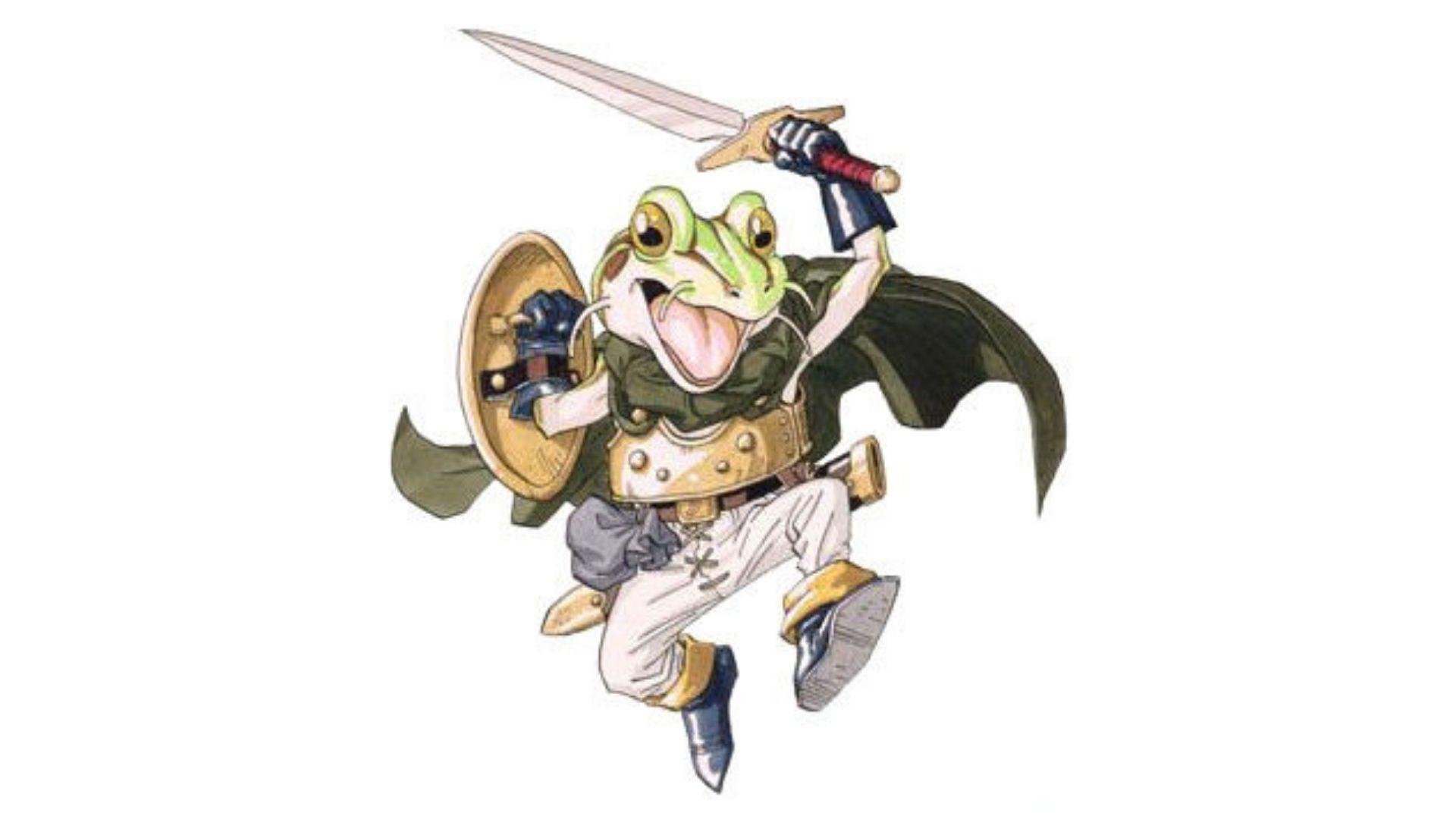 Frog é um cavaleiro medieval amaldiçoado que virou um sapo (Foto: Divulgação/Square Enix)