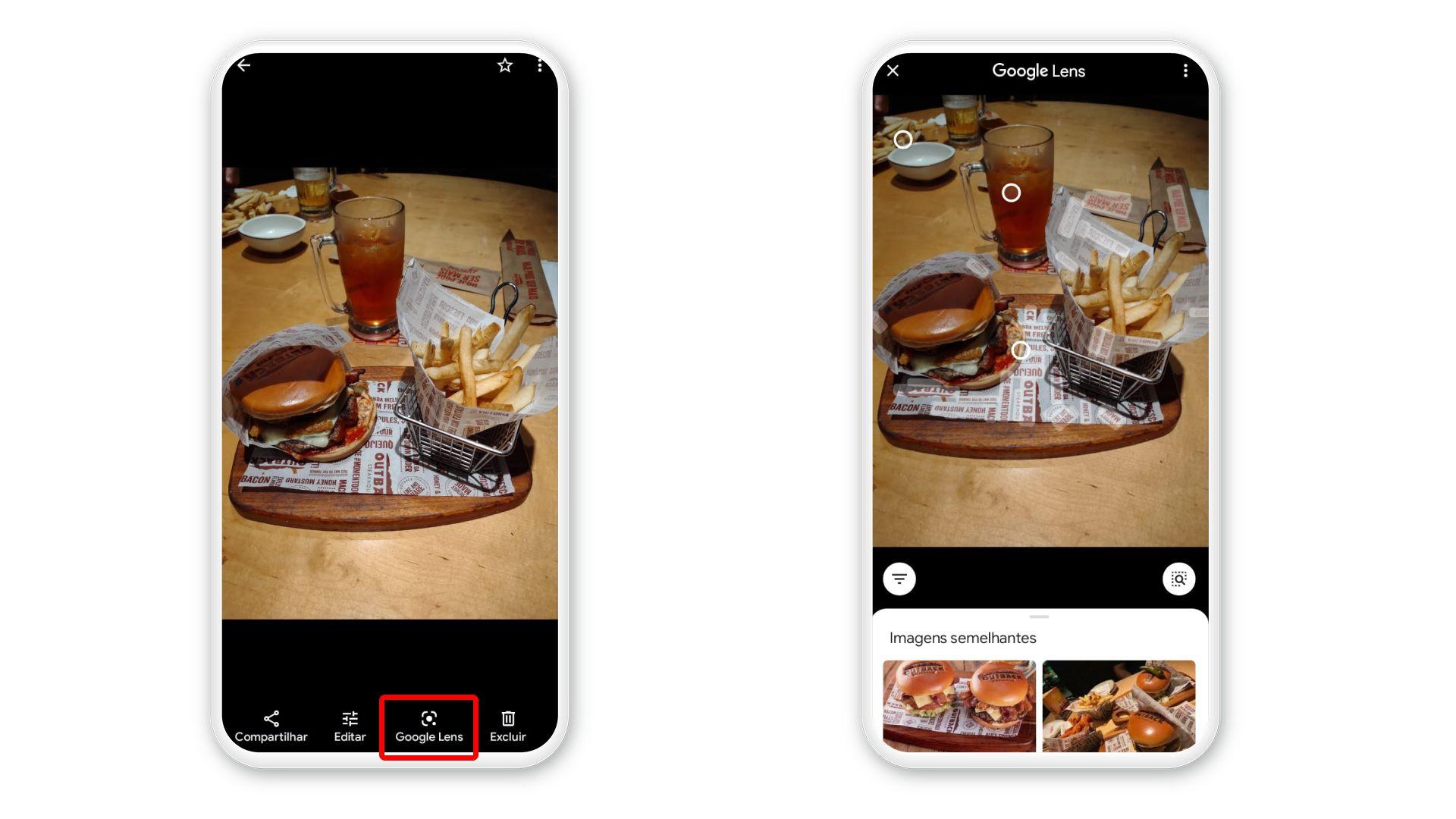 Google Lens também funciona com o Google Fotos (Foto: Arte/Zoom)