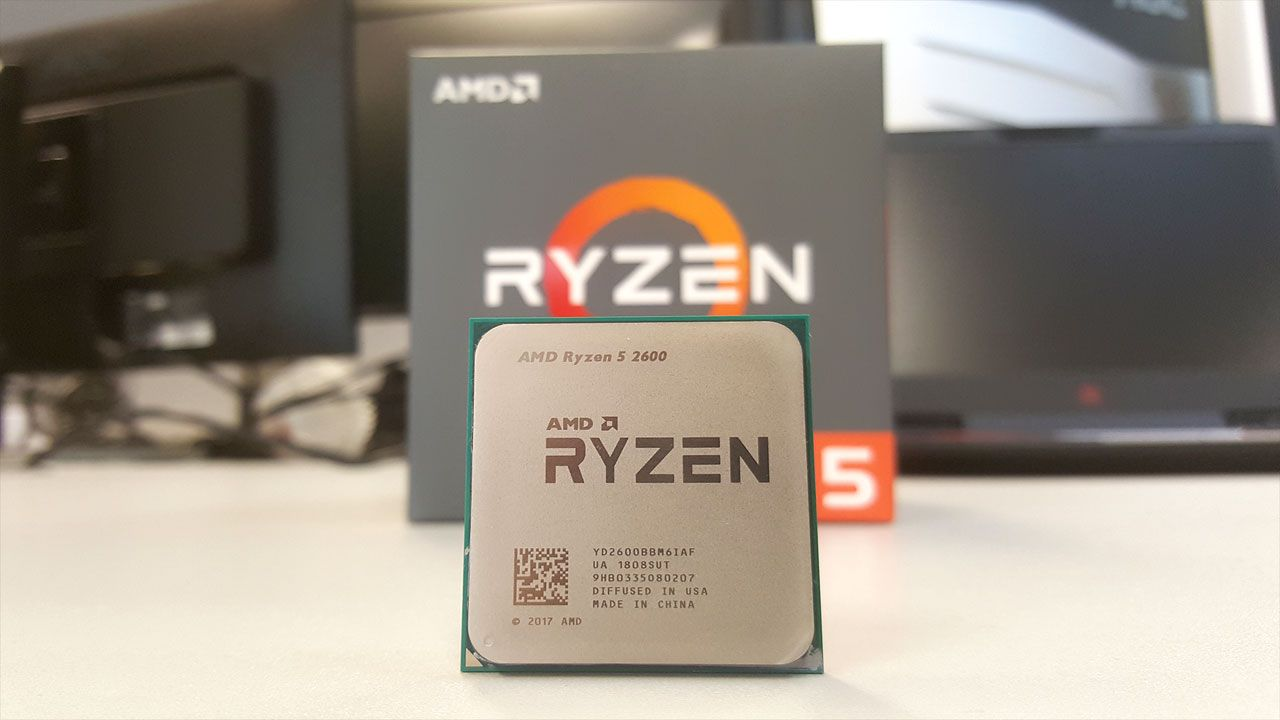 O I3-9100F apresenta uma performance bastante superior a um concorrente semelhante, o ADM Ryzen 5 2600 (Reprodução: PCGamesN)