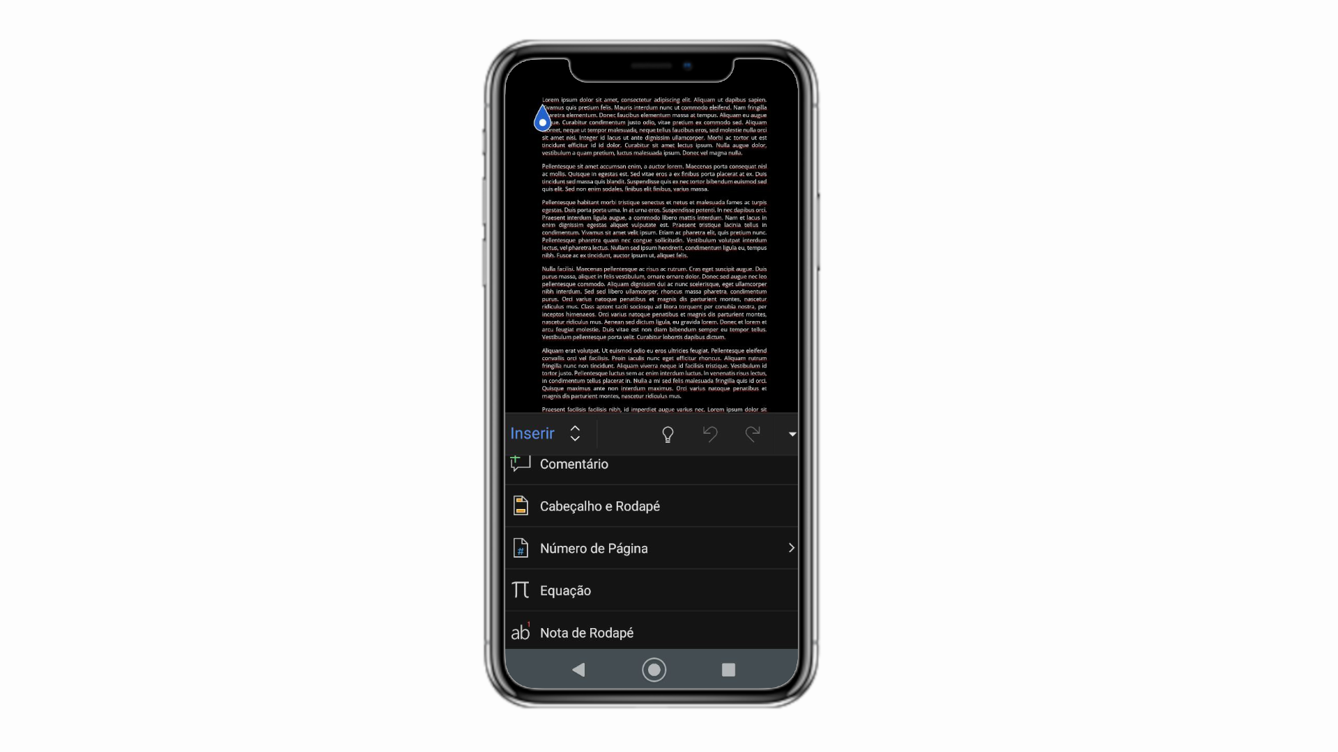"""Você pode numerar páginas no Word normalmente na aba de """"Inserir"""" (Foto: Reprodução/Zoom)"""