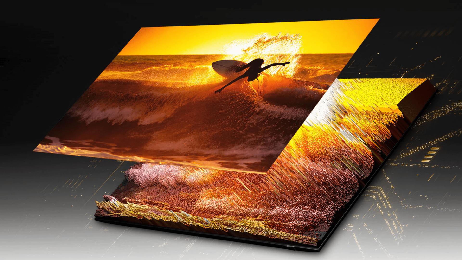 As TVs Neo QLED, lançadas em 2021, introduziram os Mini LEDs na composição das telas. (Imagem: Divulgação/Samsung)