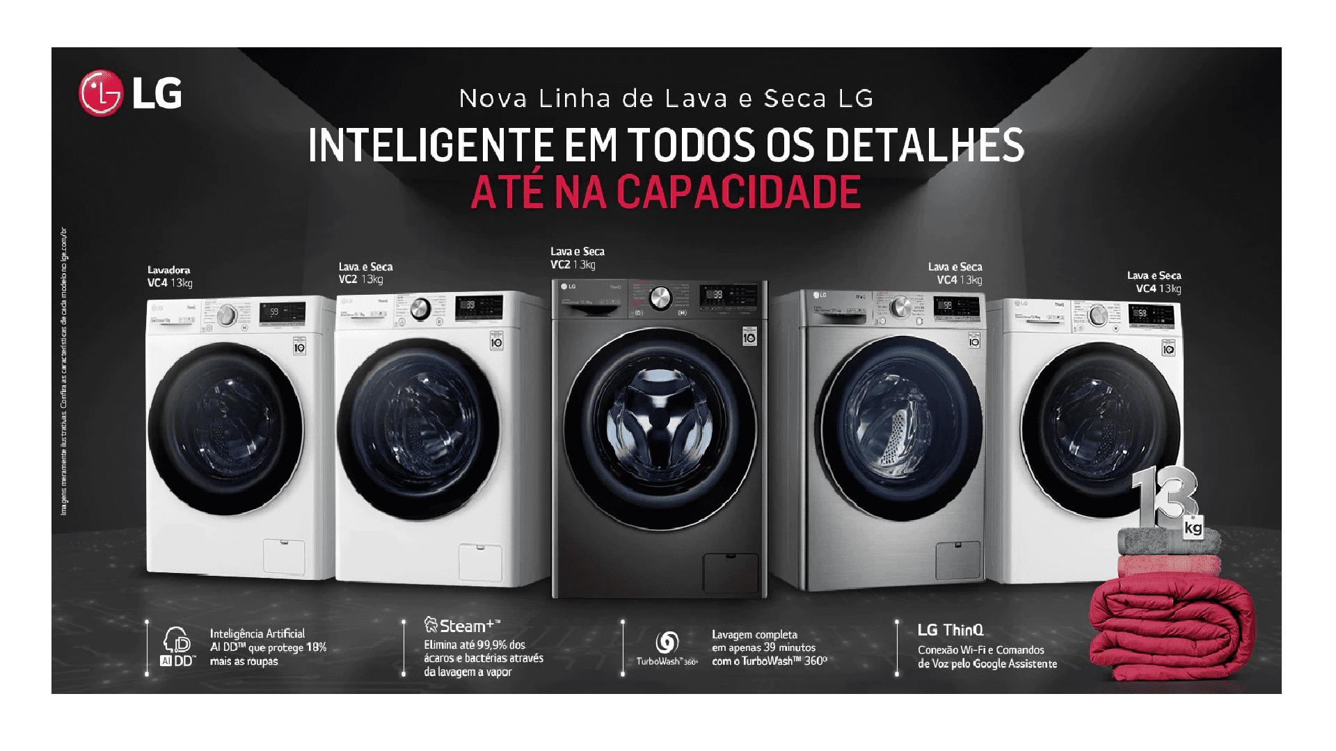 Conheça todos os detalhes da nova linha de Lava e Seca LG (Imagem: Divulgação/LG)
