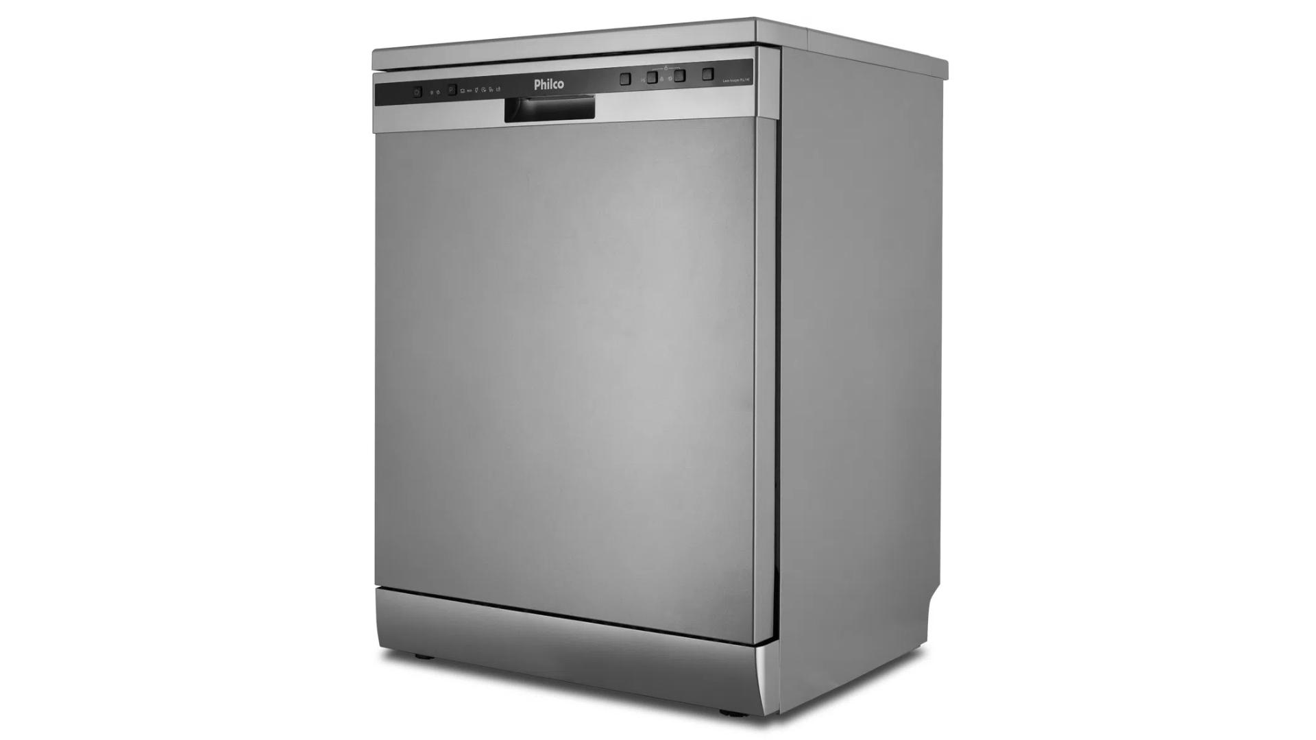 A Philco PLL14B oferece 6 programas de lavagem, disponíveis no painel frontal da lava-louças. (Imagem: Divulgação/Philco)