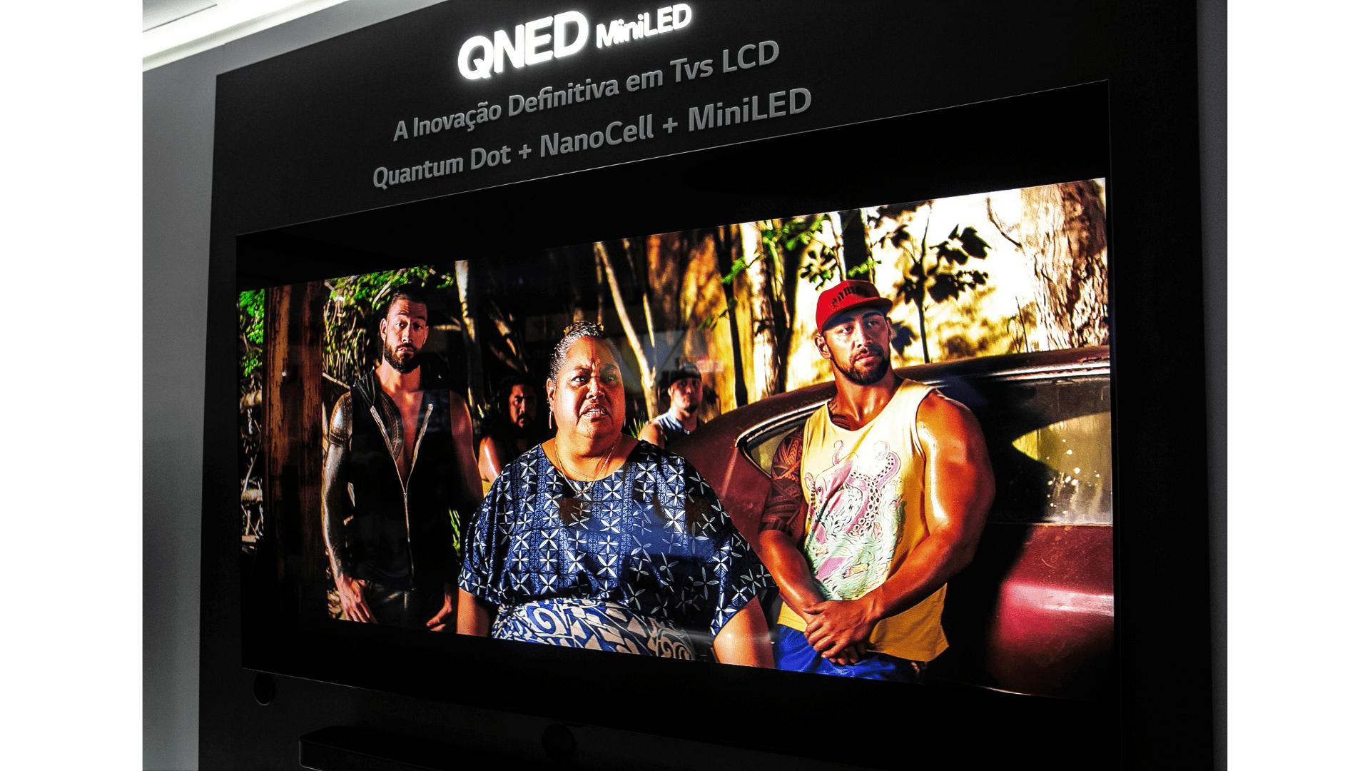 Além da tela super tecnológica, as novas LG QNED contam com otimizador de jogo e modo Filmmaker. (Imagem: Divulgação/LG)