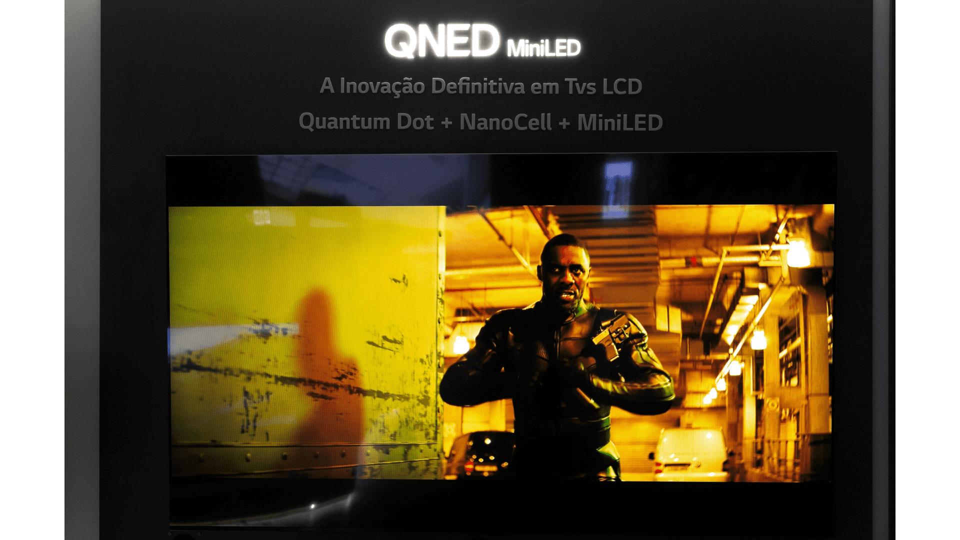 Veja detalhes da nova TV QNED da LG. (Imagem: Divulgação/LG)