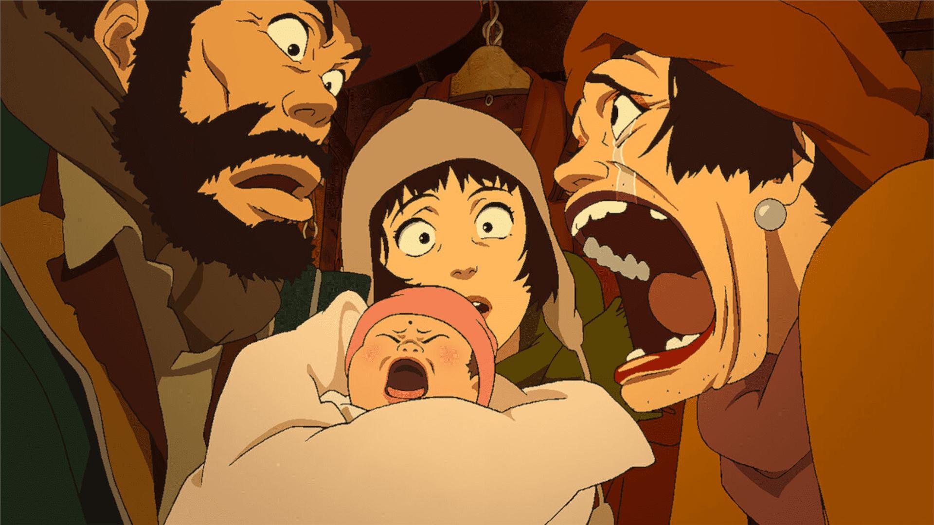Padrinhos de Tóquio é uma história que mistura drama e comédia e fala sobre uma família inusitada de moradores de rua (Foto: Divulgação/Netflix)