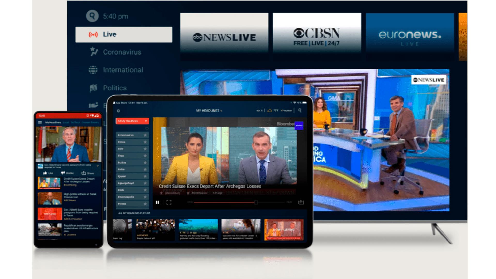 Fechando nossas indicações de app para TV box, o Haystack News é uma fonte de notícias segura e precisa. (Imagem: Divulgação/Haystack)