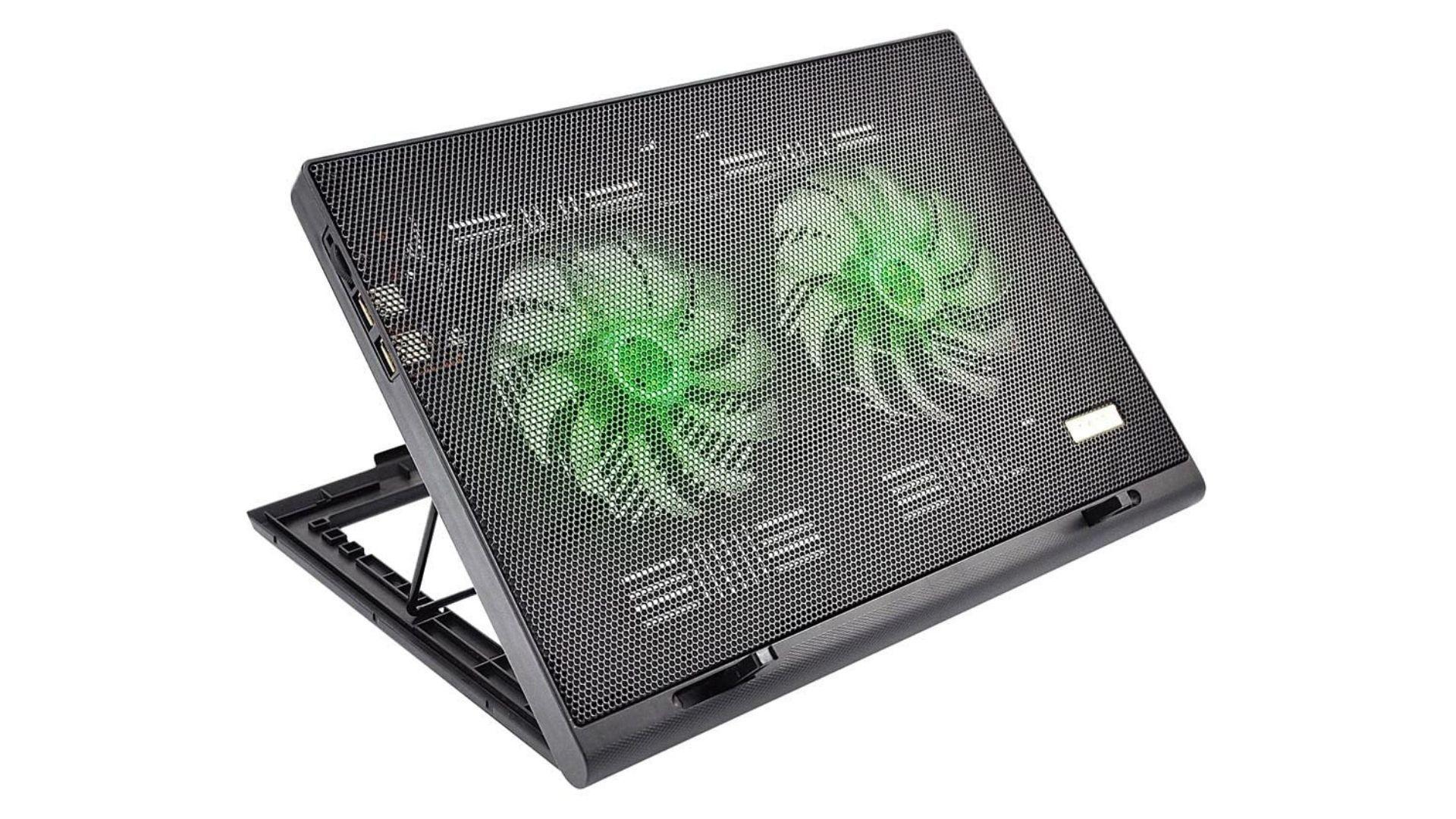 Um modelo de suporte para notebook com cooler barato e potente (Foto: Reprodução)