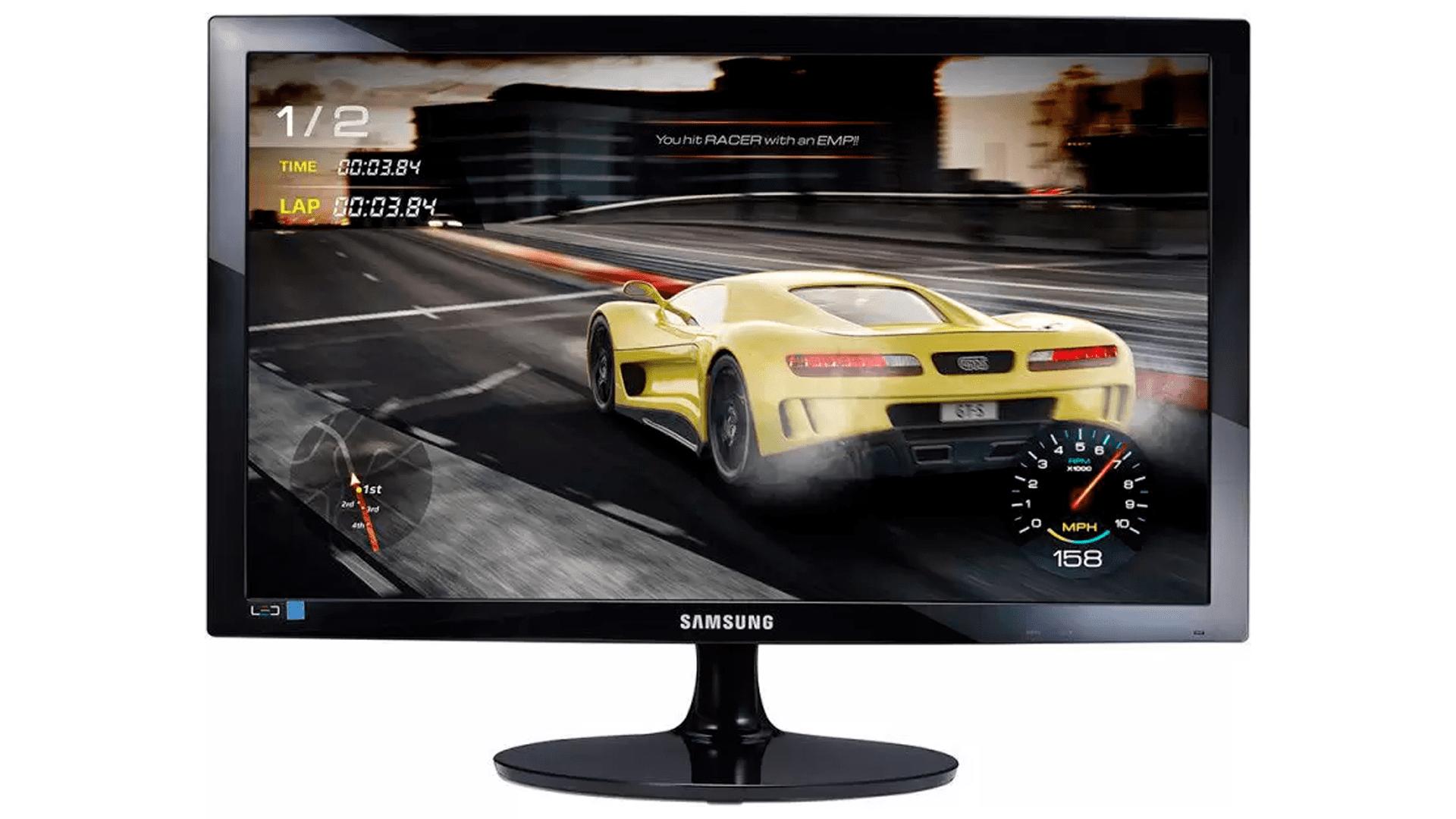 """O Monitor Gamer TN 24"""" Samsung Full HD LS24D332HSX é uma excelente opção custo-benefício (Foto: Divulgação/Samsung)"""