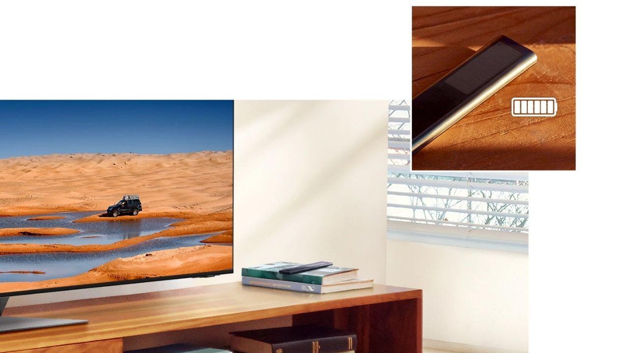 O SolarCell é o controle remoto da linha Neo QLED (Foto: Divulgação/Samsung)