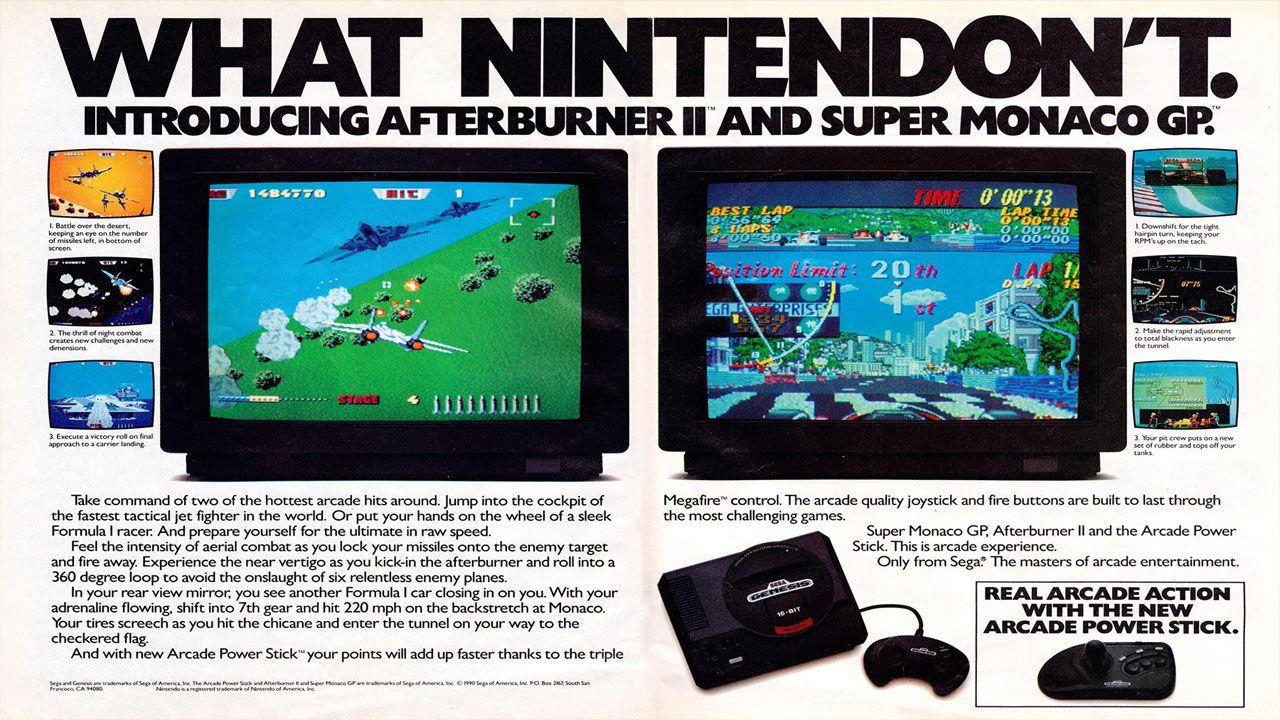 A agressiva campanha da Sega nos anos 90 criou uma rivalidade entre fãs da empresa e da Nintendo (Reprodução: Retromags)