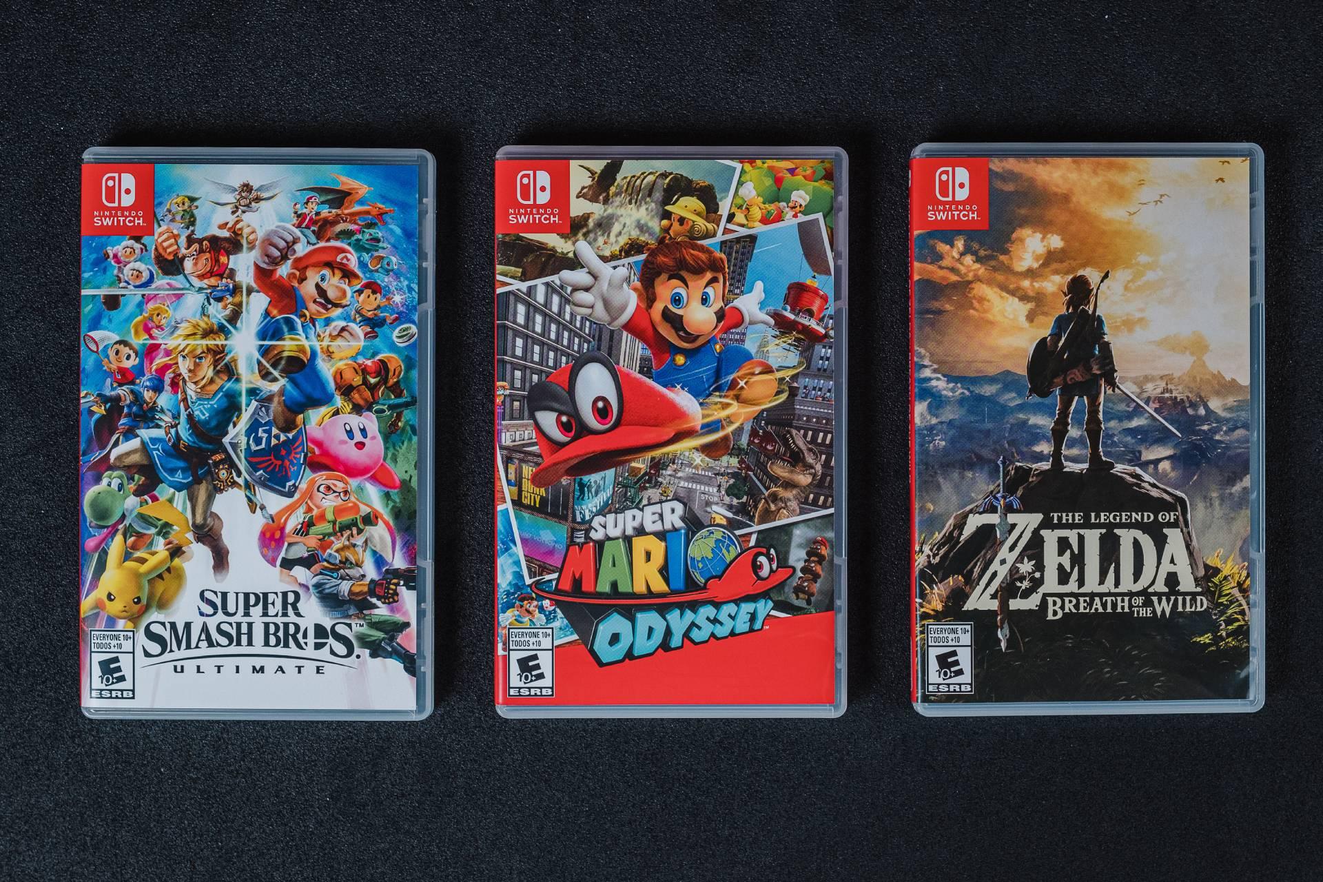Super Mario Odyssey, Super Smash Bros. Ultimate e The Legend of Zelda: Breath of the Wild são os três jogos mais populares do Nintendo Switch