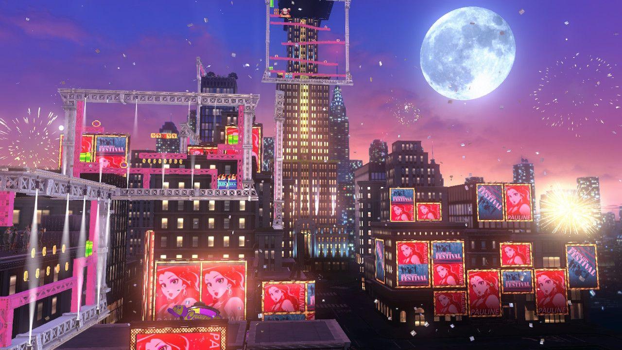 A cidade dos humanos traz uma das melhores referências e cenas do game (Fonte: Reprodução/Super Mario Odyssey)
