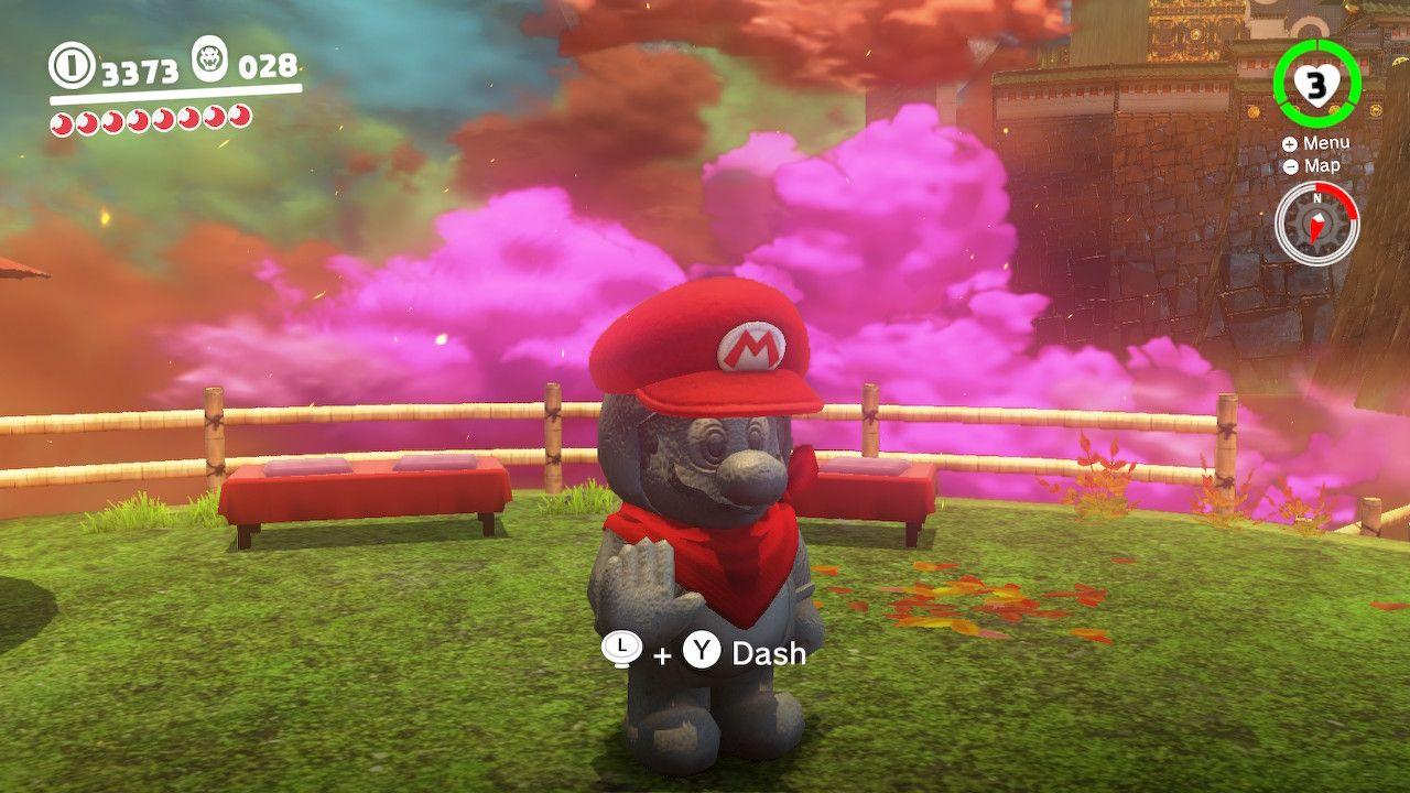 Se você é da época de Super Mario Bros. 3 ou Super Mario All-Stars, vai pegar essa referência (Fonte: Reprodução/Super Mario Odyssey)
