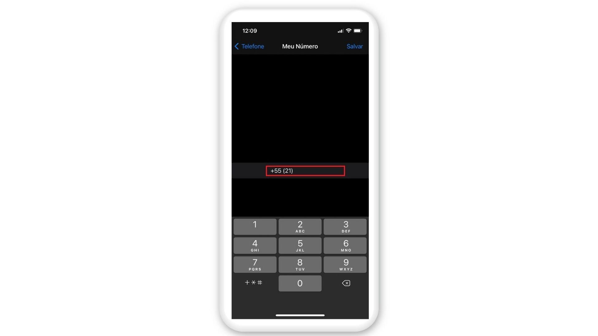 Como saber meu número no iPhone: após os passos, ele aparecerá na tela (Foto: Arte/Zoom)