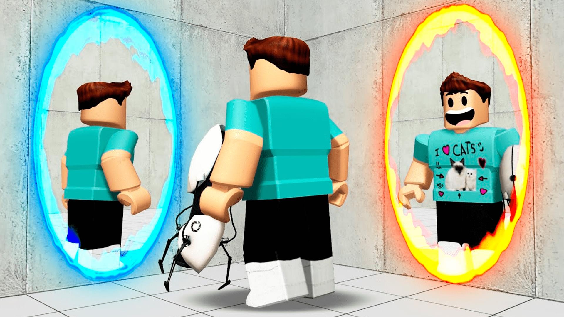 Existe uma versão do clássico Portal para o Roblox (Foto: Divulgação/Roblox)