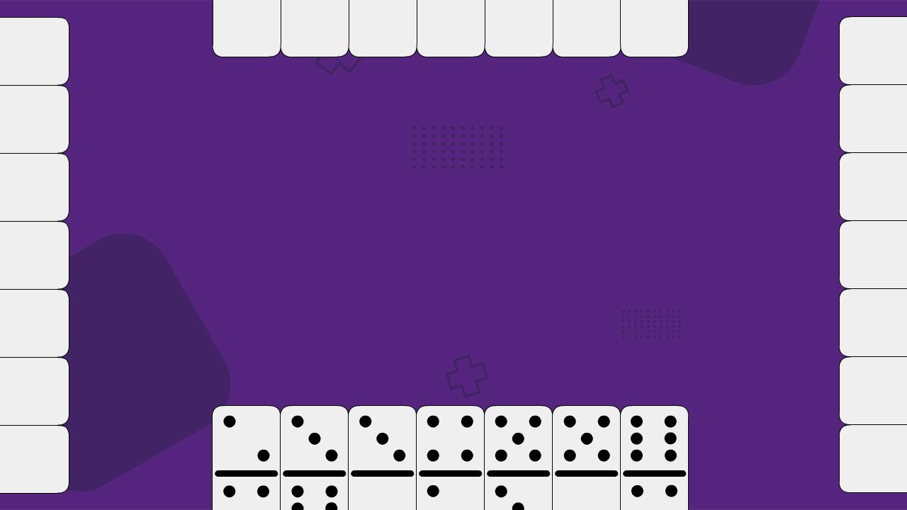 Por padrão, cada jogador saca 7 peças para começar a partida de dominó (Reprodução: Redação Zoom)