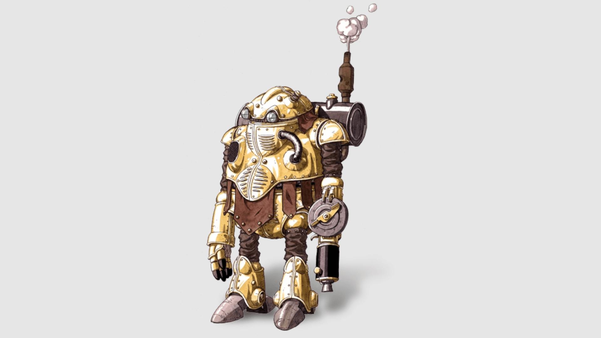 Robo é uma máquina futurística que foi consertado pela Lucca (Foto: Divulgação/Square Enix)