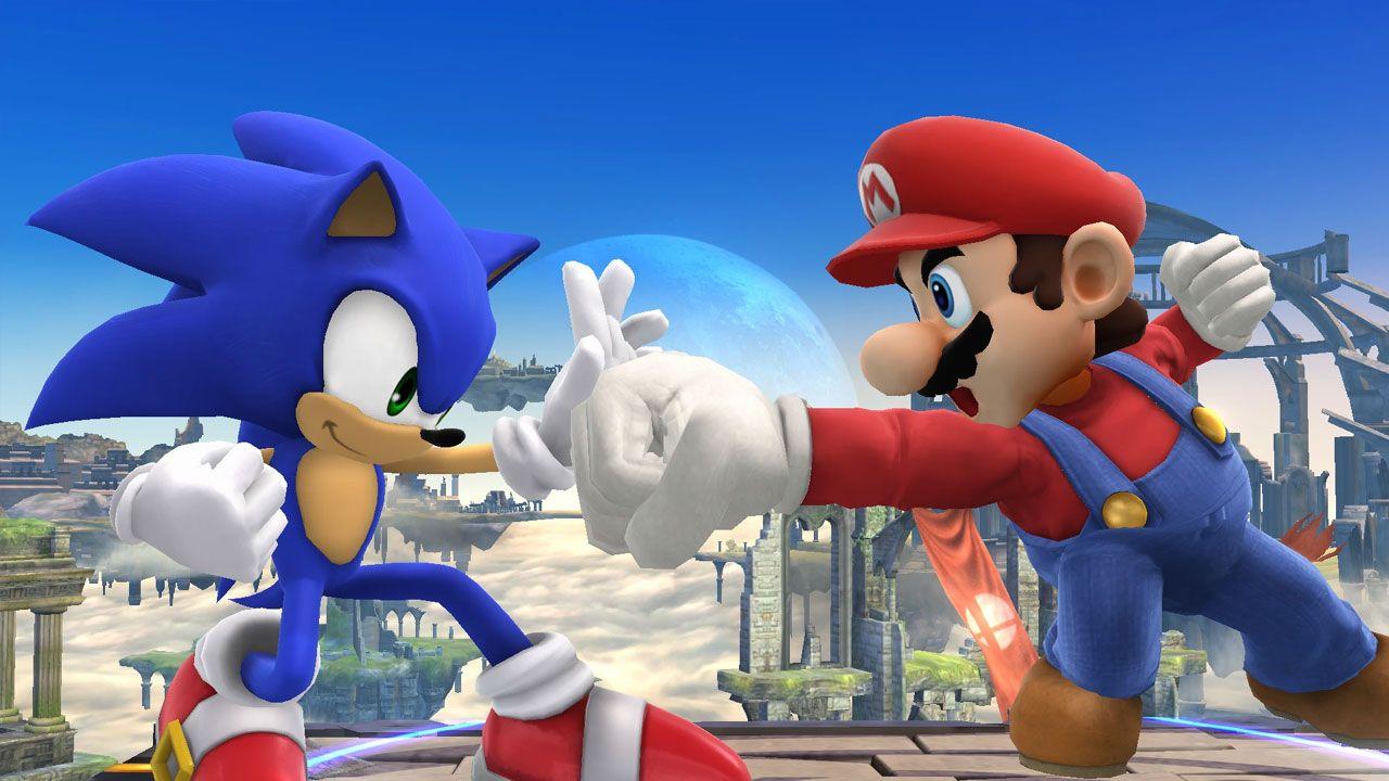 Sonic enfrentou Mario nos anos 90, mas atualmente participa de jogos da ex-concorrente (Reprodução: VentureBeat)