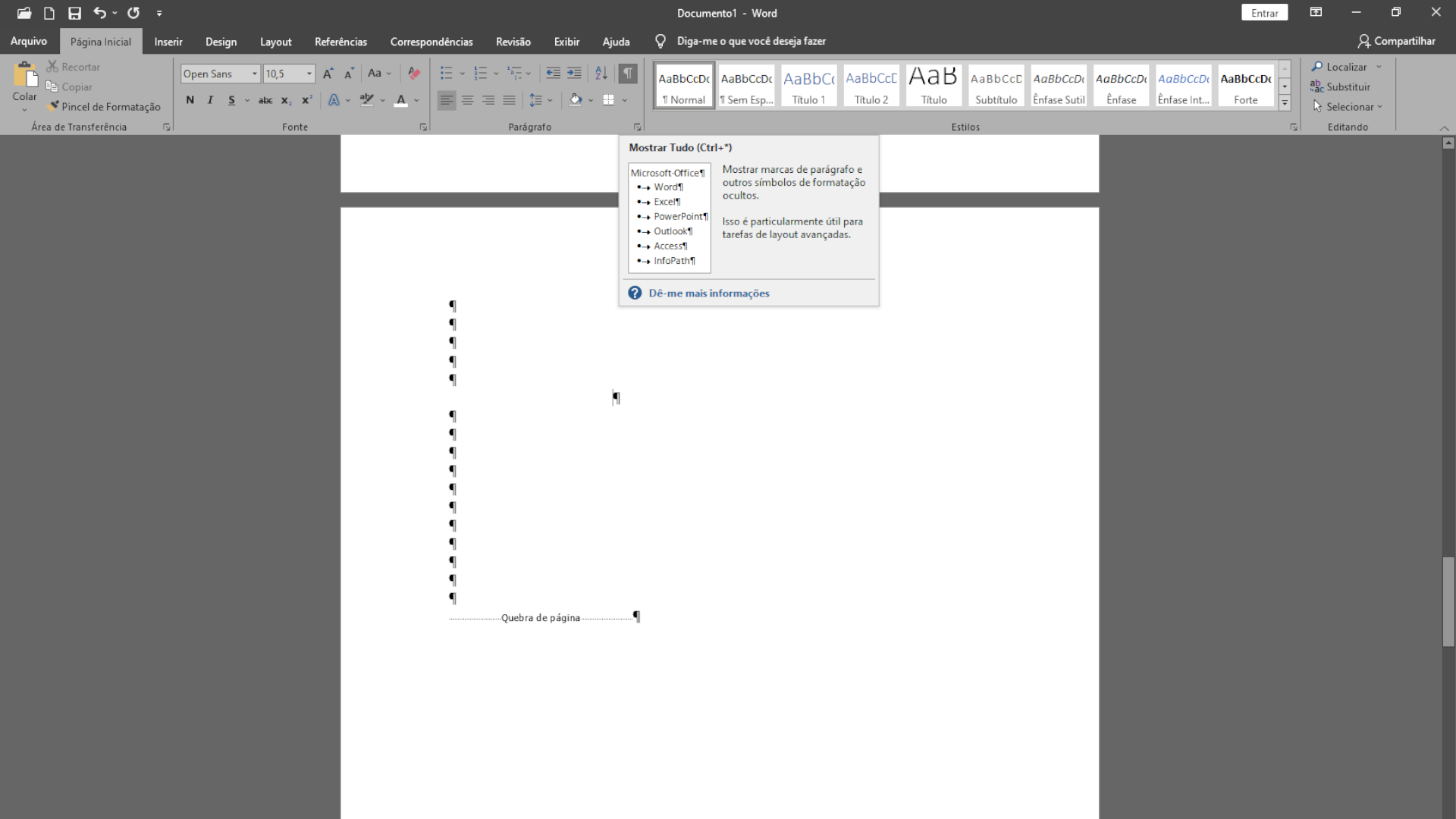 Ferramenta própria do software para selecionar texto é forma segura de como excluir página no Word (Foto: Reprodução/Zoom)