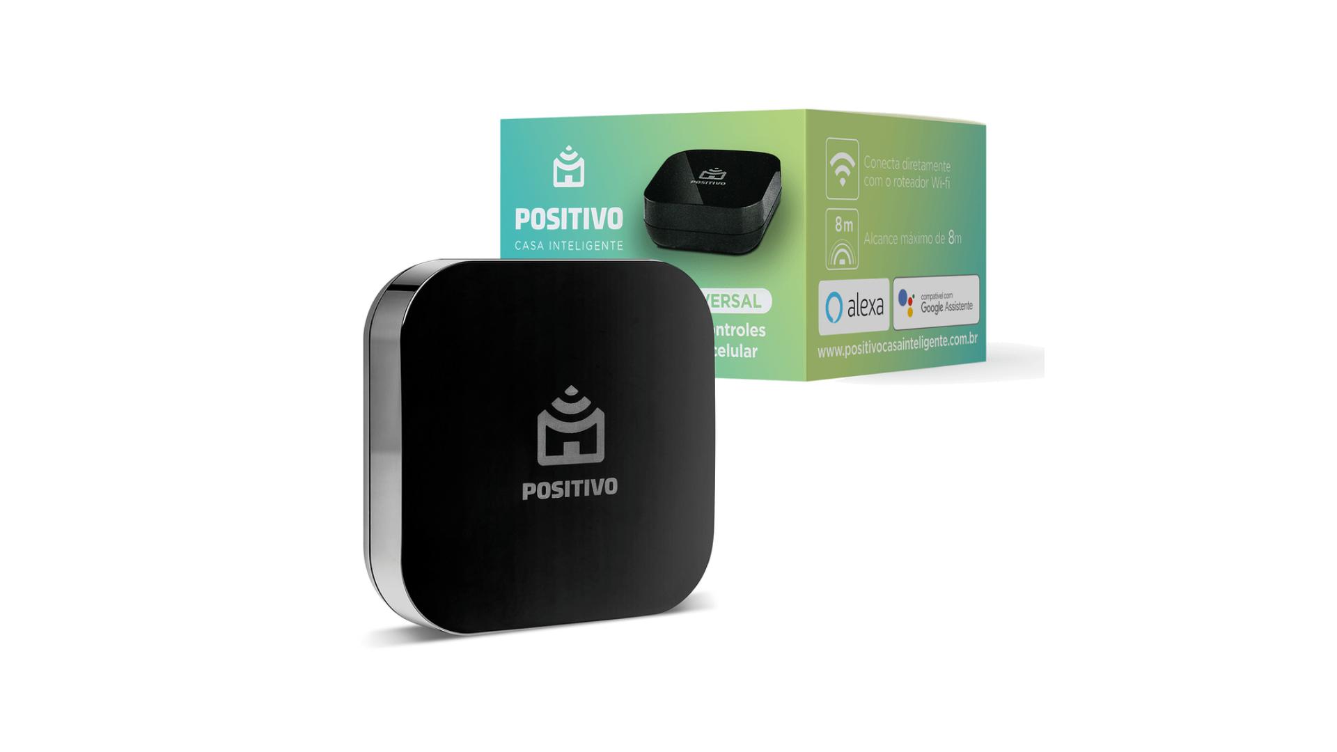 Veja como usar o smart controle universal da Positivo na sua casa inteligente. (Imagem: Divulgação/Positivo)