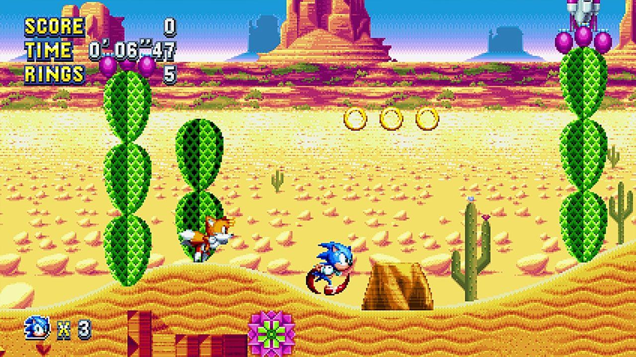 Sonic Mania reproduz o estilo do clássico jogo do Sonic com tecnologias modernas nas plataformas atuais (Reprodução: Steam)