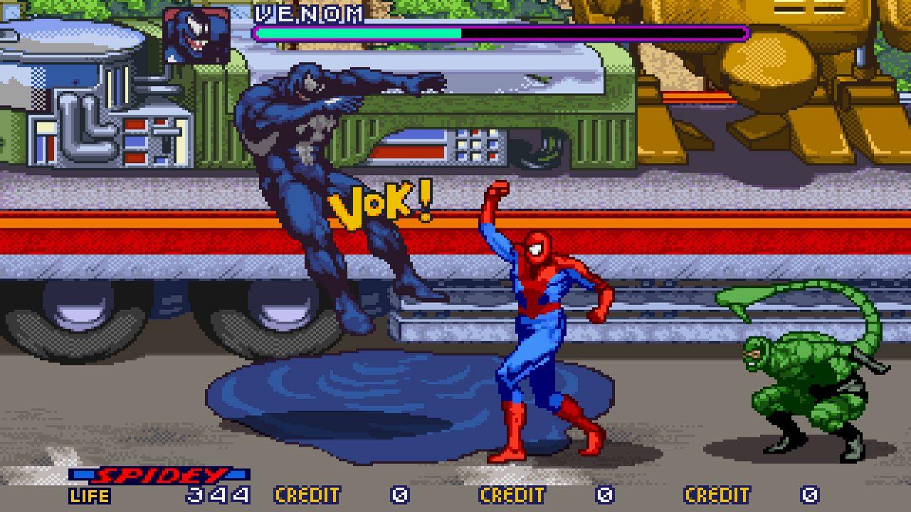 Os primeiros bons jogos do Homem-Aranha começaram a surgir nos anos 90 com a ascensão dos beat'em ups (Reprodução: Arcade History)