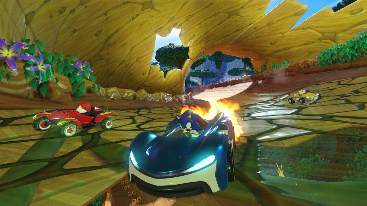 Team Sonic Racing é um jogo do Sonic de corrida em equipes com elementos que lembram o clássico Mario Kart (Reprodução: Steam)
