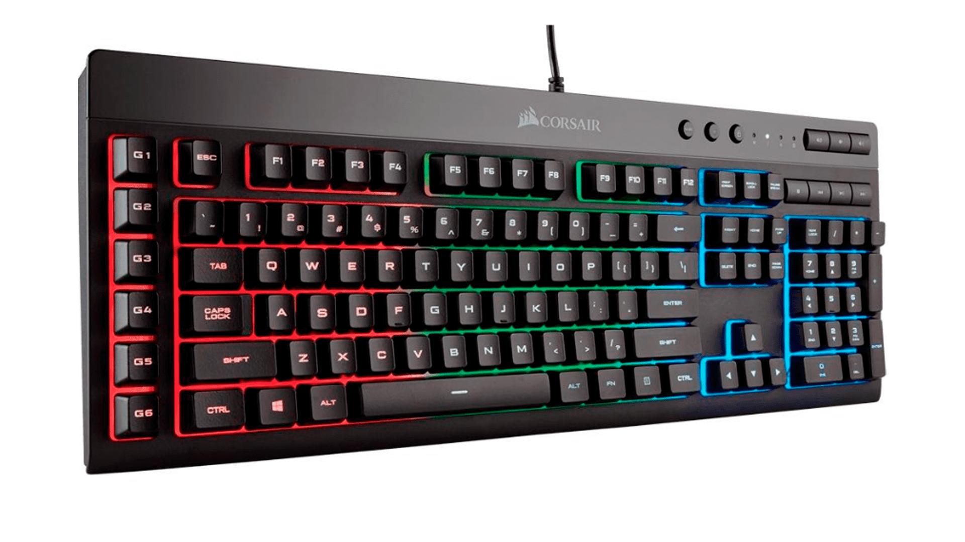 Diversos botões para funções são o destaque no teclado K55 RGB da Corsair (Foto: Divulgação/Corsair)