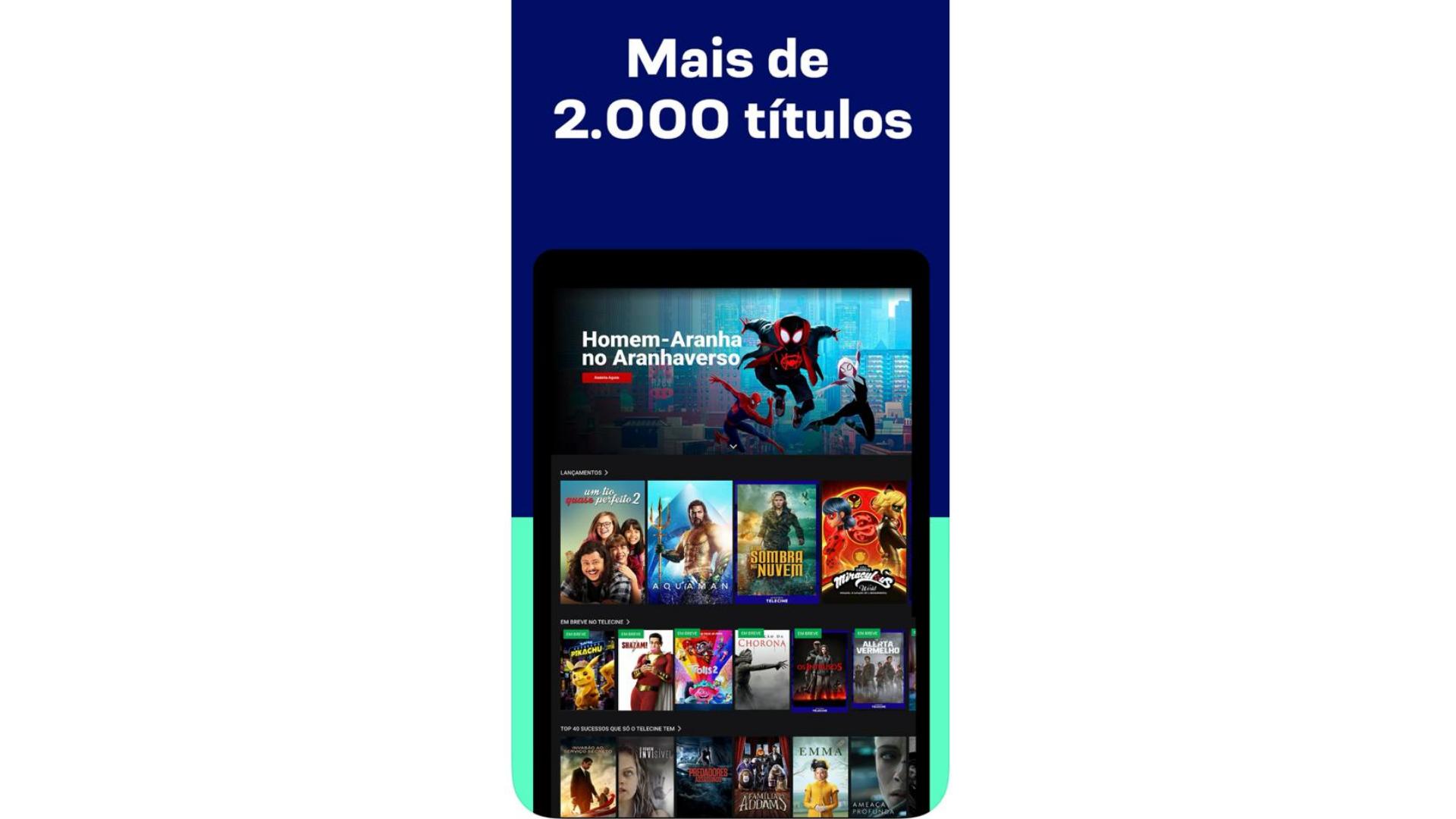 Telecine Play: veja como assistir com ajuda do Chromecast, TV box, espelhamento de tela e do notebook. (Imagem: Captura de tela/Telecine)