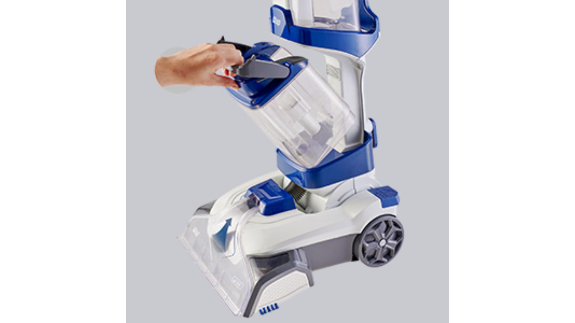 Os reservatórios da Comfort Cleaner são removíveis para facilitar a limpeza e o reabastecimento. (Imagem: Divulgação/WAP)