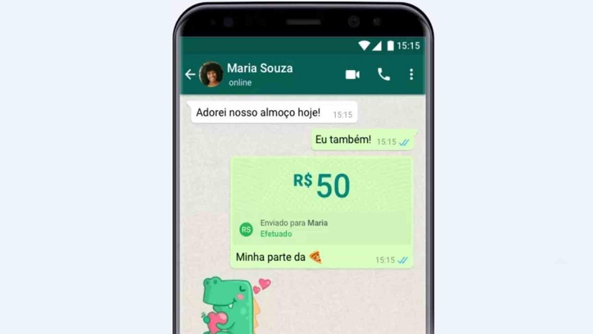 WhatsApp Pay terá pagamento dentro da mensagem (Divulgação / WhatsApp)
