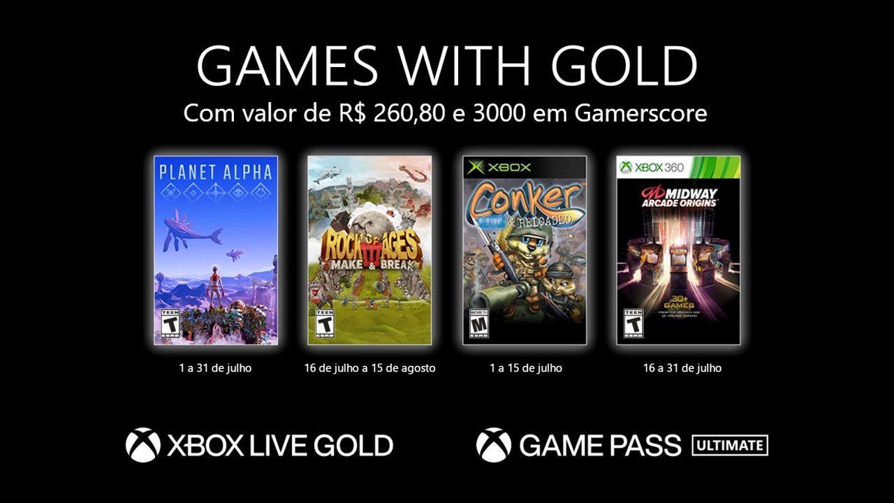 Microsoft anuncia jogos grátis para a Xbox Live Gold e Xbox Game Pass Ultimate em Julho (Reprodução: Xbox)