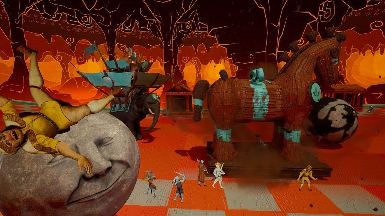 Rock of Ages III: Make & Break traz sua estranha mistura de defesa de torre e uma bola de destruição com humor inspirado em Monty Python (Reprodução: Xbox Games Store)