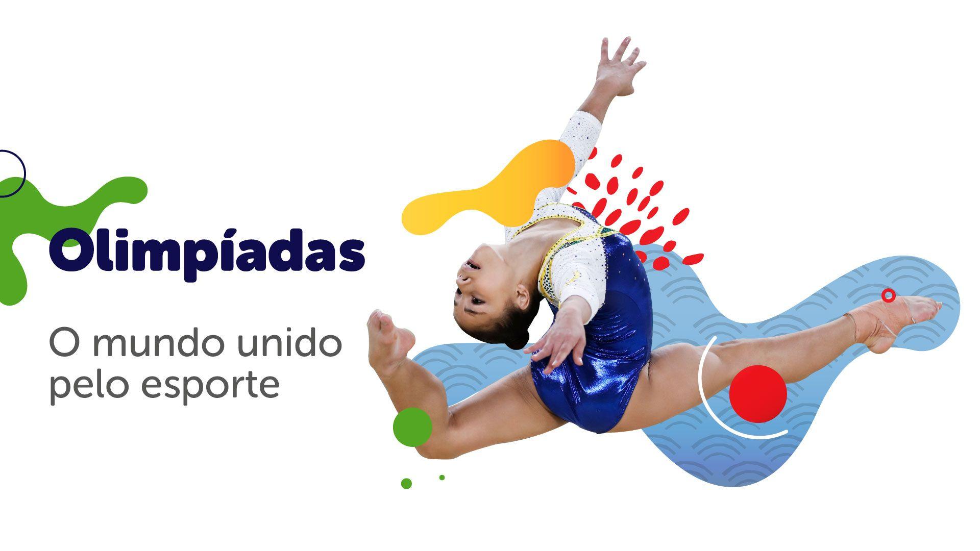 As Olimpíadas têm como objetivo unir o mundo através da prática dos esportes olímpicos (Arte/Zoom)