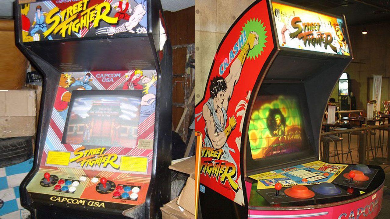 Fliperamas antigos de Street Fighter